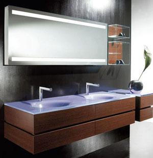 Mẫu tủ lavabo đẹp trong thiết kế phòng tắm