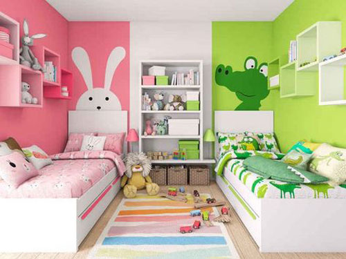 phòng ngủ cho bé trai và gái 1