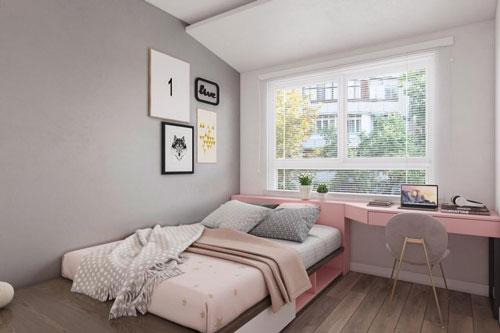 giường ngủ phòng con gái