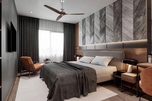 giường ngủ phòng master
